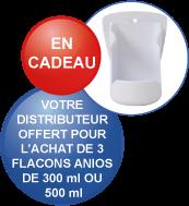 Distributeur offert pour l'achat de 3 flacons 300 ou 500 ml