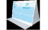 250 fiches médicales patient papier 3 volets