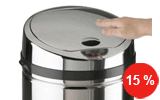 poubelle sensitive à ouverture automatique Rossignol